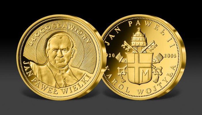 Błogosławiony Jan Paweł II w cennym złocie