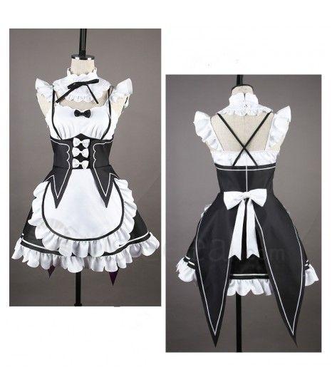 Re Zero Kara Hajimeru Isekai Seikatsu Twins Rem Ram Maid Cosplay Costume$29.99  - Limit Order  ☾♡ ♥ ♫ ♪ ♥❀ ♢♦ ♡ ❊ http://www.trustedeal.com/Re-Zero-Kara-Hajimeru-Isekai-Seikatsu-Rem-Ram-Maid-Cosplay-Costume.html