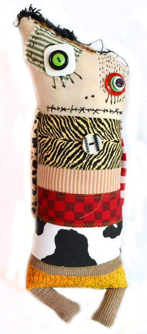 Butch: handmade monster rag doll by Diane Slagle