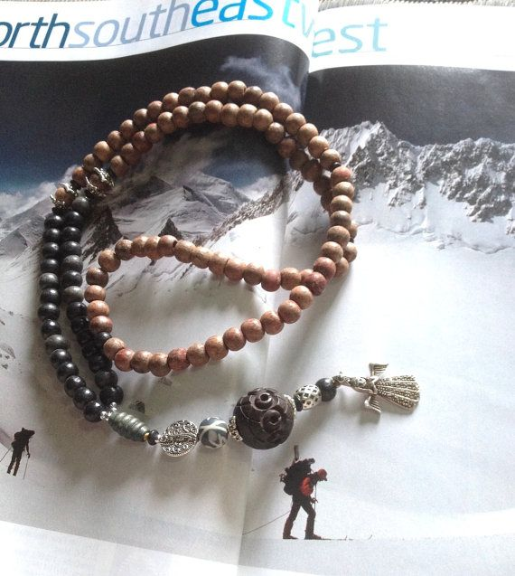 Ice Angel Himalayan Trek Kailash 108 Entrainment  Yogic Mala  - 3 days left to order in time for xmas delivery <3 shop for good karma supports my work in rural india.