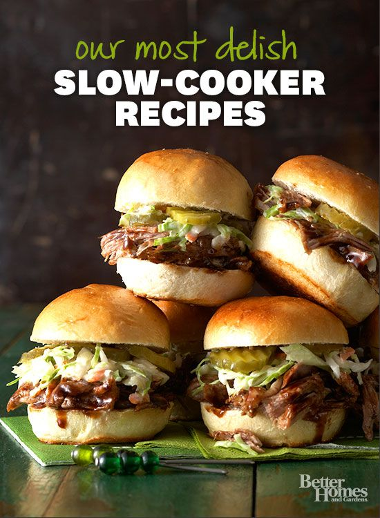 Slow cookers are the best appliance to use on the weekends. Try some of our favorite recipes soon: http://www.bhg.com/recipes/slow-cooker/slow-cooker-dinners/?socsrc=bhgpin101913slowcookerrecipes