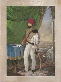 AOTTOMAN TURKEY, 19TH CENTURY PORTRAIT OF THE YOUNG SULTAN MAHMUD II