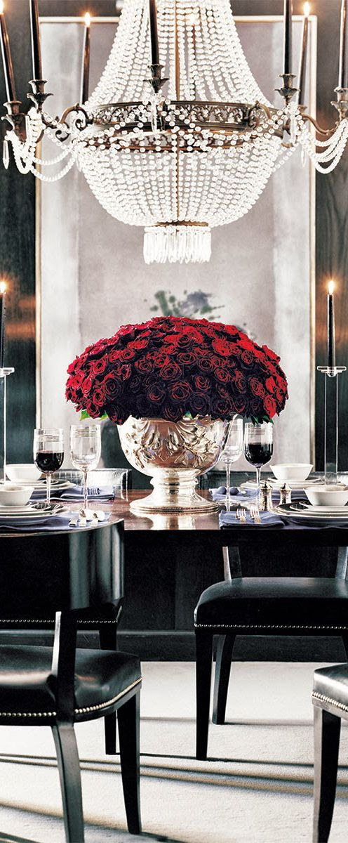 Glamorous Black Dining Room