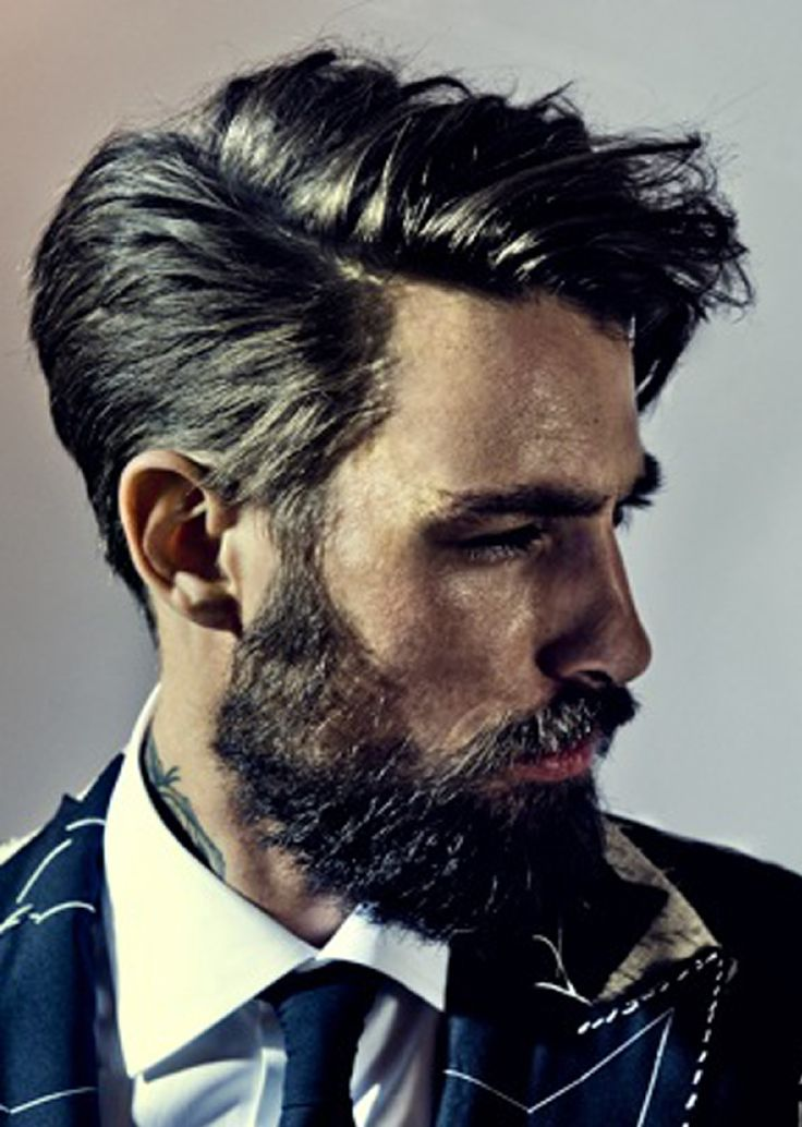 The Top Hairstyles For Men 2013 | Obviously the beard is irrelevant for me, but I would love to have my hair styled like this.