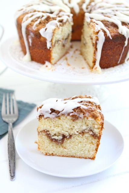 Greek Yogurt Coffee Cake Recipe on twopeasandtheirpod.com #recipe #cake