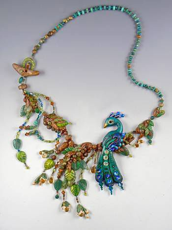 Peacock Pizzazz by Christi Friesen. Absolutely stunning polymer clay work. I adore the peacock! And the best part is that the site includes the tutorial!