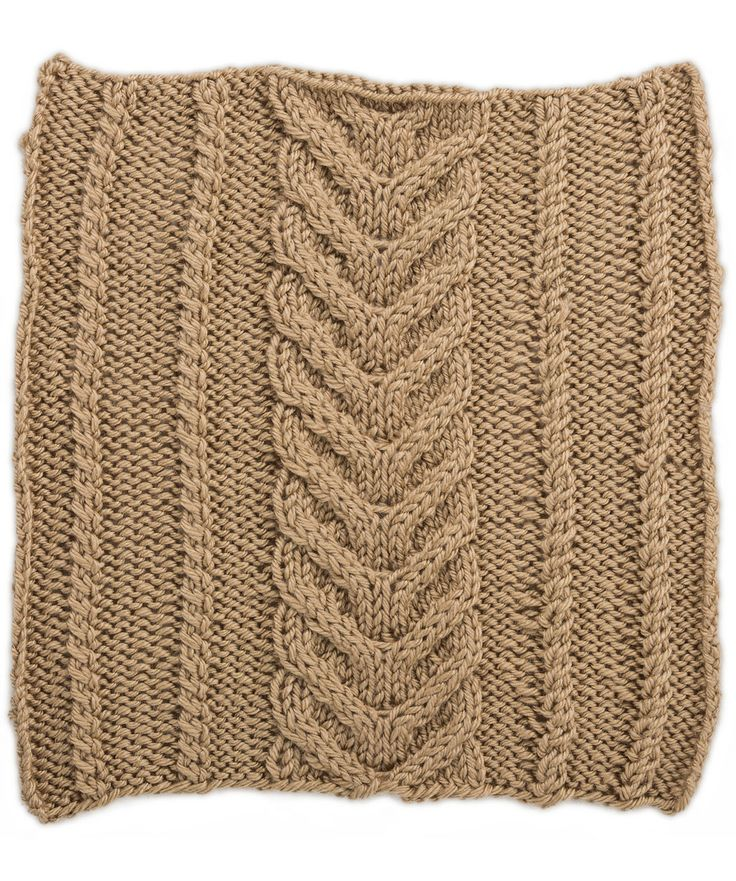 Crochet Panel Afghan Patterns : Horseshoe Panel with Twists Square for Knit Your Cables ...