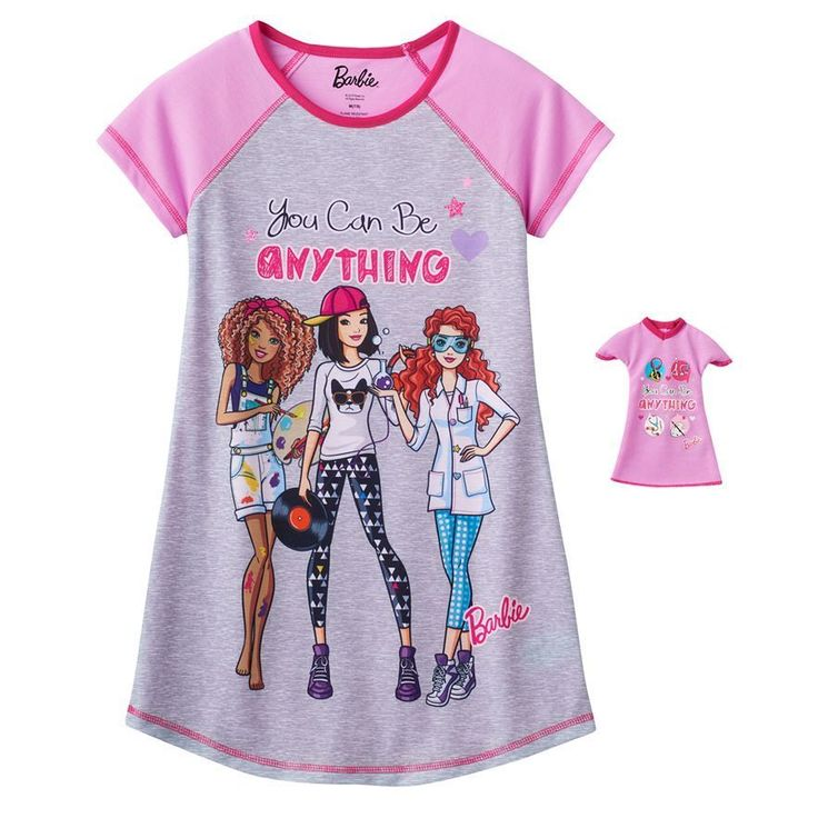 Barbie Quot You Can Be Anything Quot Nightgown With Matching Gown