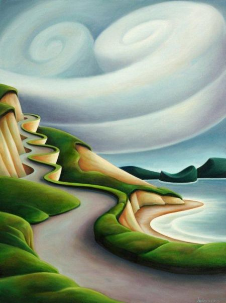Above the Weather (Sea to Sky highway Vancouver to Whistler, BC) by BC artist Dana Irving