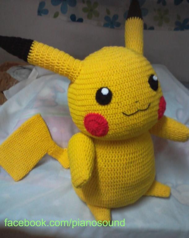 Knitted Pikachu Pattern : Amigurumi Pikachu Pattern Pikachu, Crocheting and Patterns