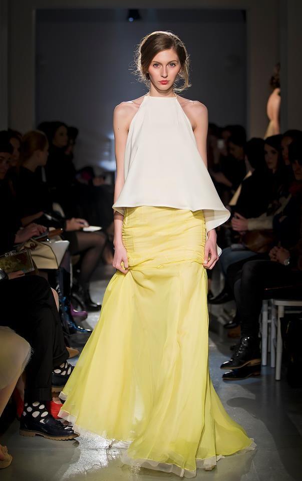 PARLOR #fashion #silk #skirt #parlor #yellow