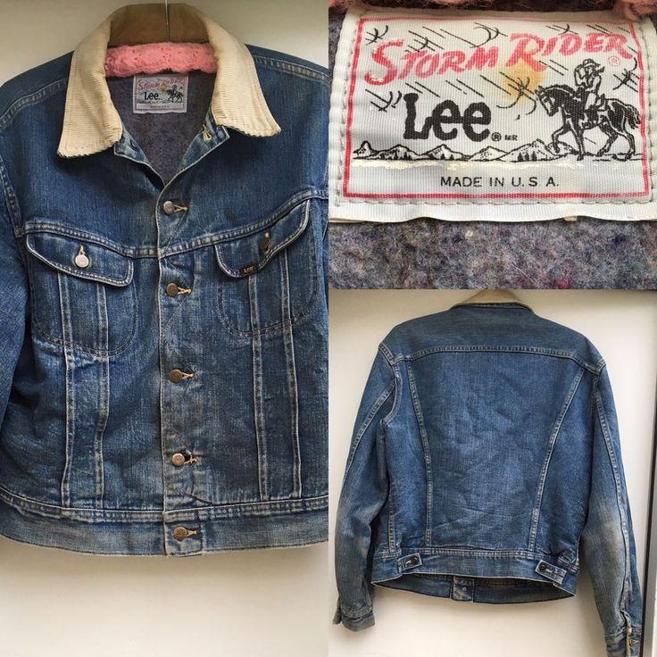 Vintage Lee Storm Rider Jean Jacket Denim Jacket Blanket Lined Made In USA  | Clothing, Shoes & Accessories, Vintage, Men's Vintage Clothing | eBay!