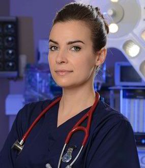 Holby City actress Camilla Arfwedson plays Zosia March