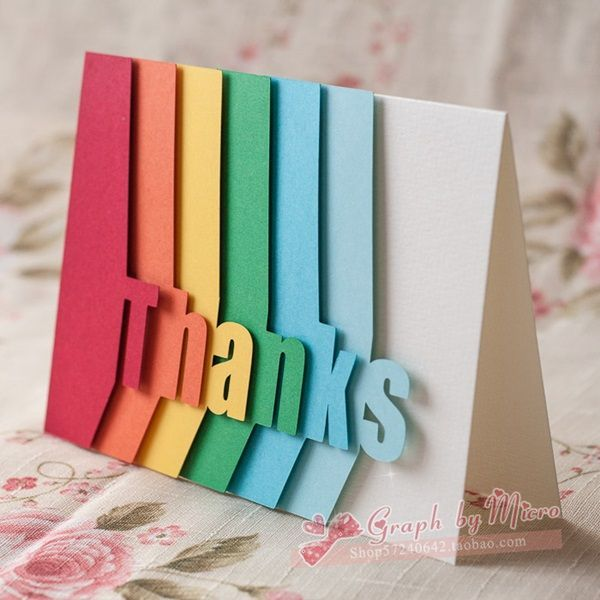 25 best thank you cards ideas on pinterest for 3d christmas cards to make at home