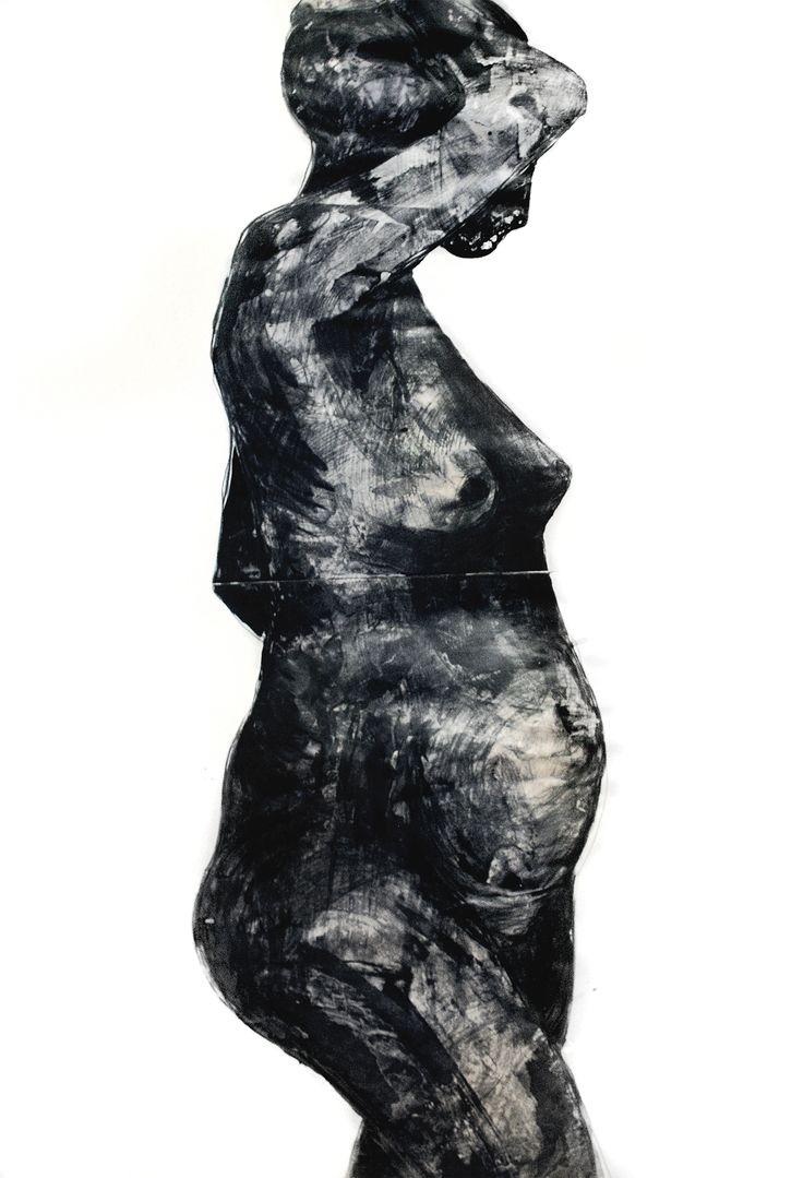 """Anna Sikora """"Tryptyk Kobiety 3 -starość"""" / kontakt w sprawie dzieła biuro@dnagallery.pl"""