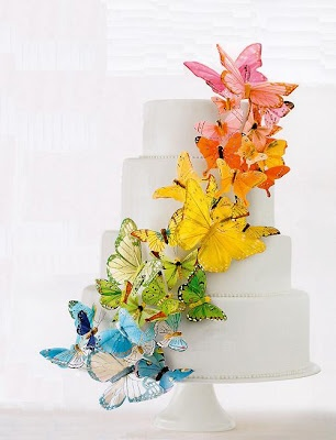 butterfly cake- i love how simple and pretty this is