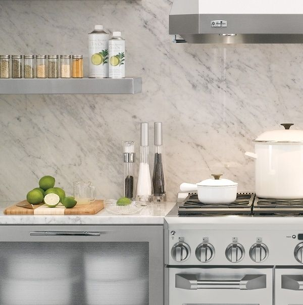 We Love A Good Marble Backsplash Kitchen