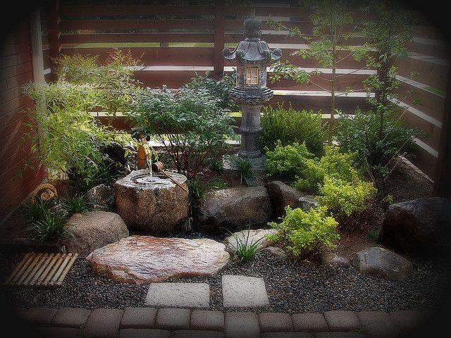 Garden Makeover After Shot Of Tsukubai Garden   Japanese Garden Designs For  Small Spaces Part 69
