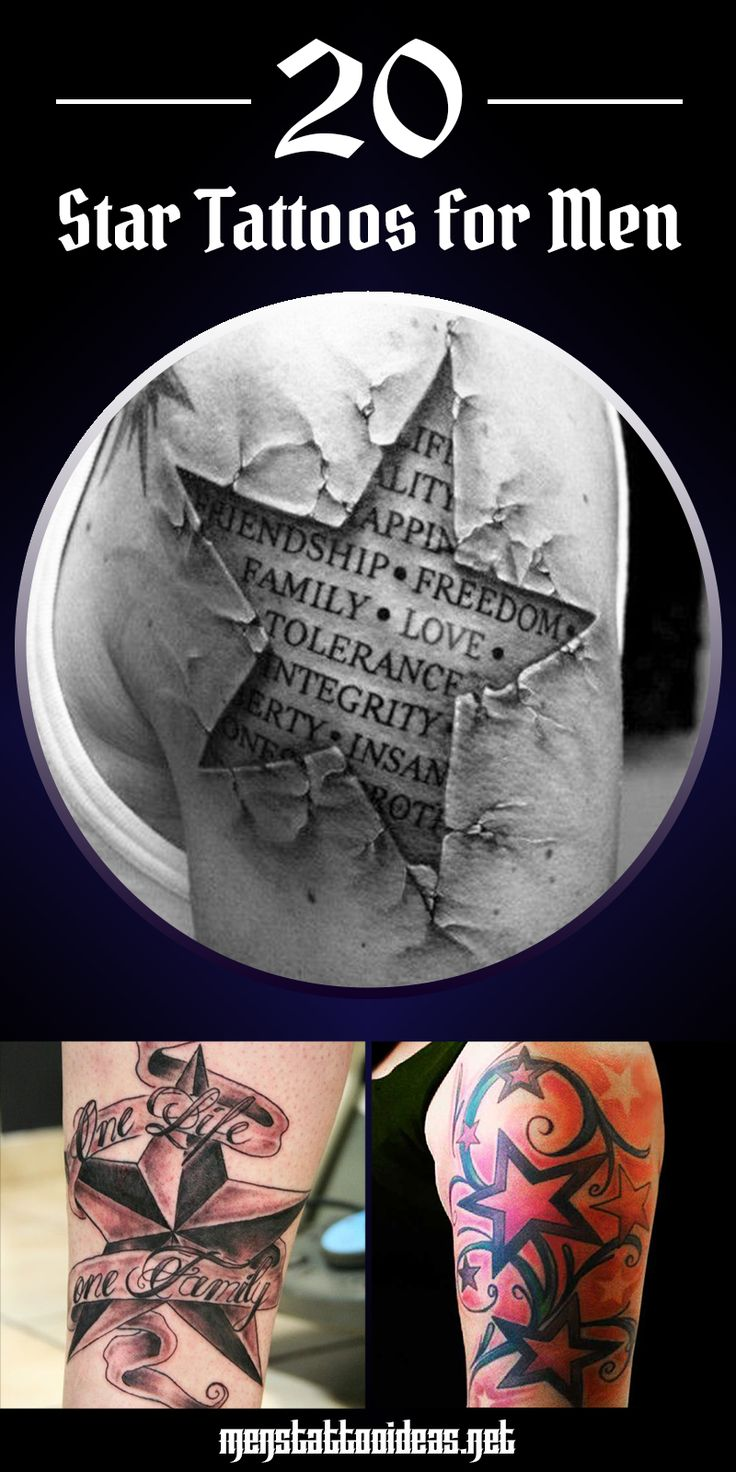 #star #tattoo #tattoos #ideas #designs #men #formen #menstattooideas