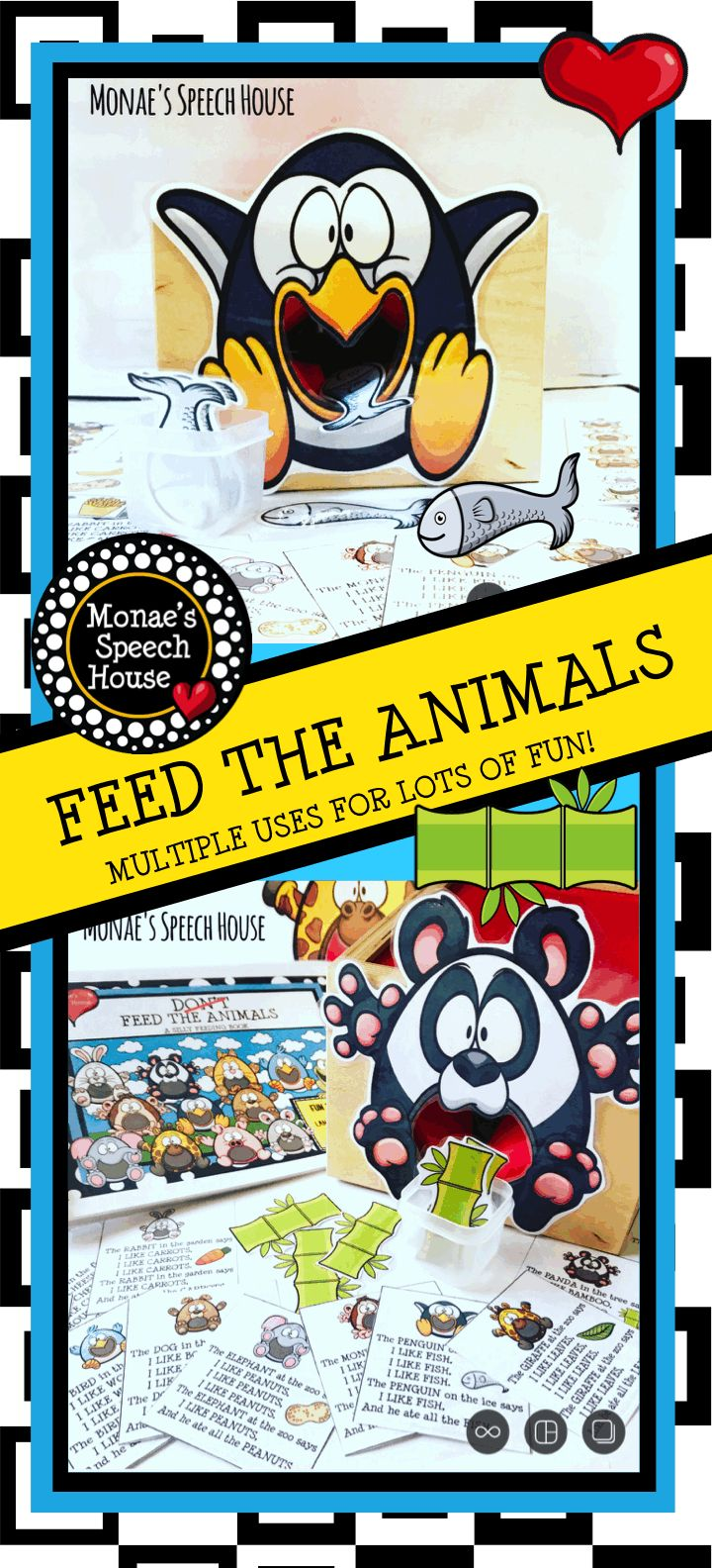 FEEDING ANIMALS AAC / PECS Early Reader Speech Therapy Autism, Early Childhood, Pre-k Activity Packet with 90 pages for preschool, Kindergarten, 1st,, 2nd, 3rd, 4th, 5th grader, self-contained special ed and autism programs. Work on vocabulary, receptive and expressive language skills, following directions, answering WH questions, describing, and more. Includes interactive storybook, question cards, bingo/vocabulary board, Poster, and more. {preK, first, second, special education, autism}
