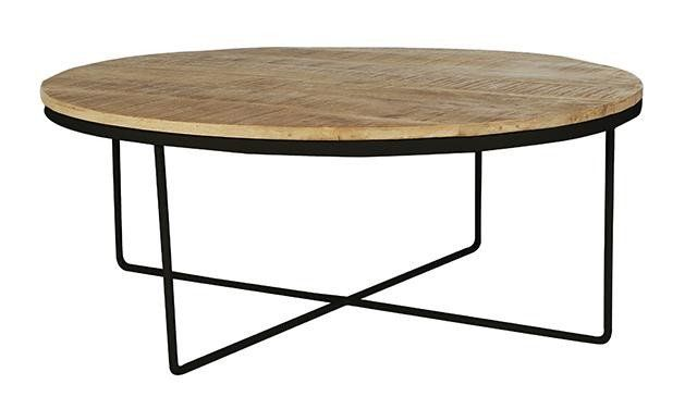 This coffee table will compliment any scheme: whether the setting is modern or vintage inspired, the rustic finish and the steel base adds structural and textural interest but also acts as a blank canvas for your living room.