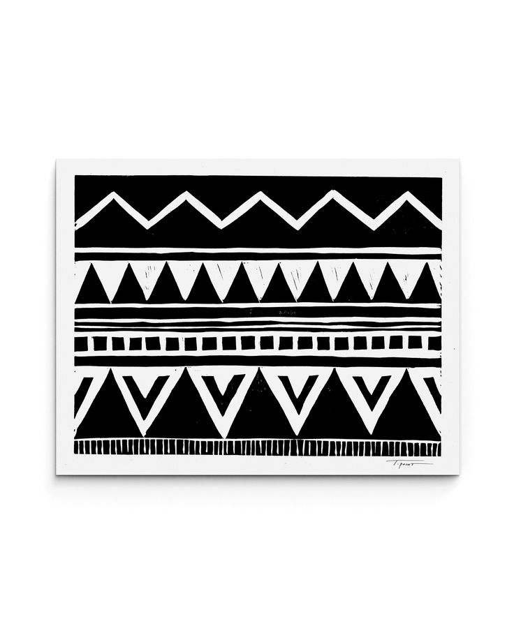 Tribal Inspired Block Print | Statement Goods