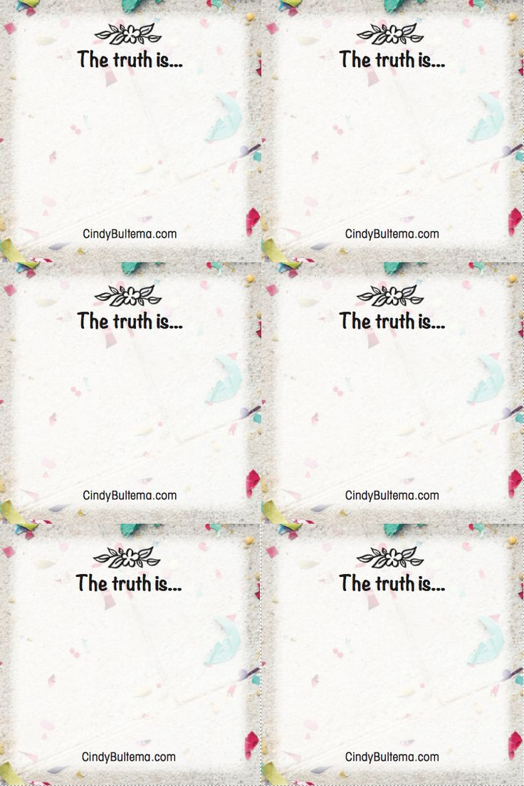 Know truth. Live truth. Share truth with these FREE printable cards inspired by the Live Full Walk Free Bible Study by Cindy Bultema at Thomas Nelson.