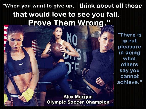 Soccer Poster Alex Morgan Olympic Champion by ArleyArtEmporium, $15.99