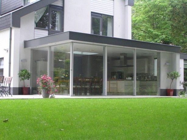 aanbouw glas strak