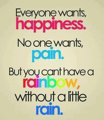 Rainbow quote: Sayings, Life, Rainbows, Wisdom, Thought, True, Inspirational Quotes, Happiness