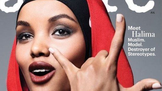 Halima Aden who calls her head covering a 'crown' emphasises it is her interpretation of Islam