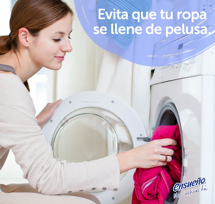 Sigue estos tips y evita que en esta temporada se llene tu ropa de pelusa. ;) #Ensueño #TipsdeHogar #lavandería #lavadora #lavar #pelusa #ropa