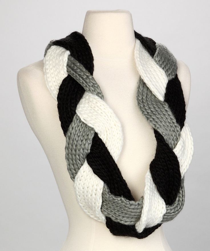 Knitting Pattern Braided Scarf : 25+ best ideas about Braid Scarf on Pinterest Scarf ideas, Scarf patterns a...