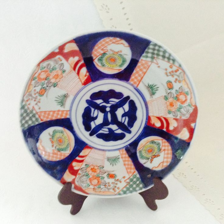 Imari Porcelain Plate - Hand painted - Asian Art - collectible plate - Vintage Japanese Plate - 1950s - decorative plate - Asian Decor by TheWhatNaught on Etsy