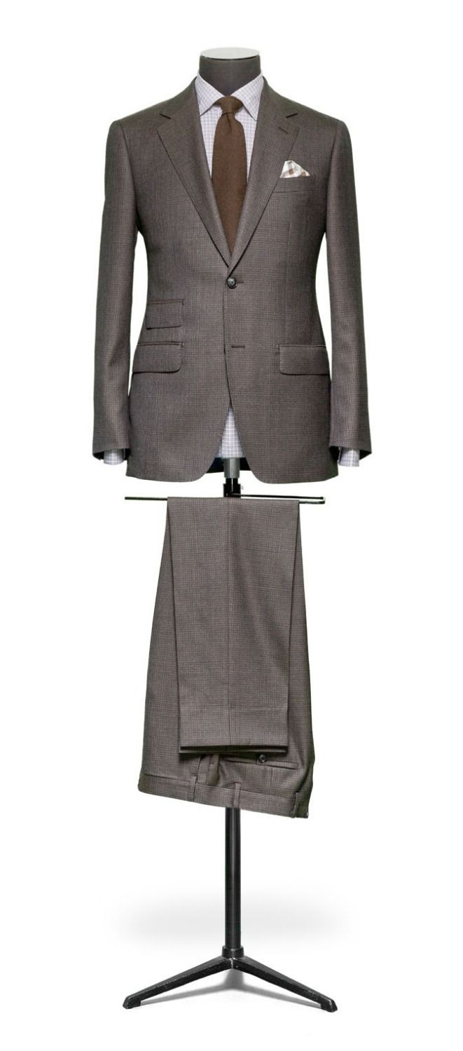 2014 High Quality Peak Lapel Brown Prom suit  /wedding suit /groom wear include  (jacket+pants+bowtie)free shipping   $159.00