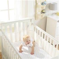 Tela Respirável Protetora para Grade de Berço Branco Breathable Baby