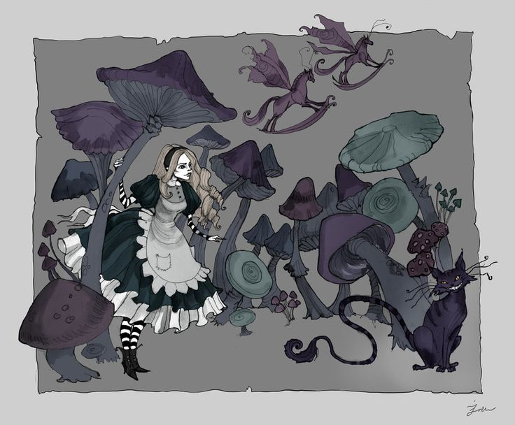 Mushroom Forest by IrenHorrors.deviantart.com on @deviantART
