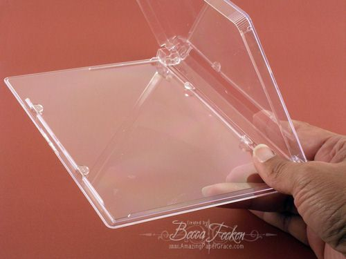 Empty DVD cases from Tapeonline (storage for rubber cling stamp sets & large Nestabilities)