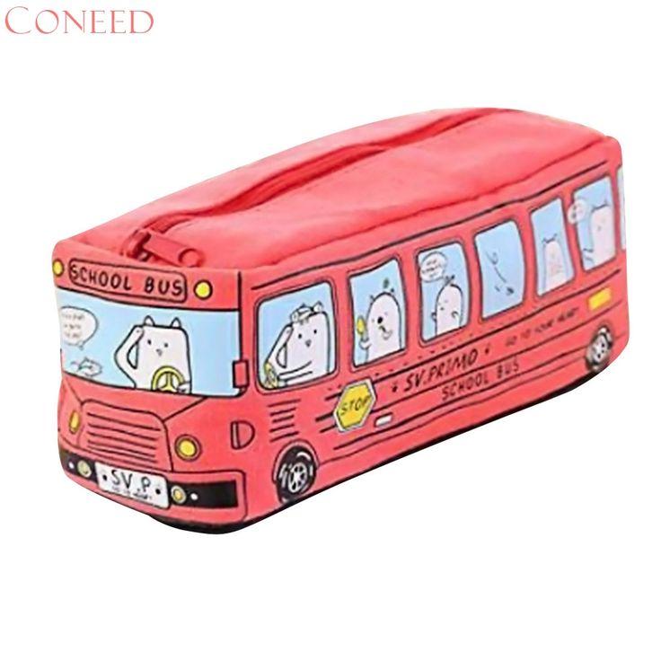Drop Ship Fashion Girls  Cats School Cartoon School Bus Makeup Bags Car Type Cosmetic Bags For Girls Juy24 #Affiliate