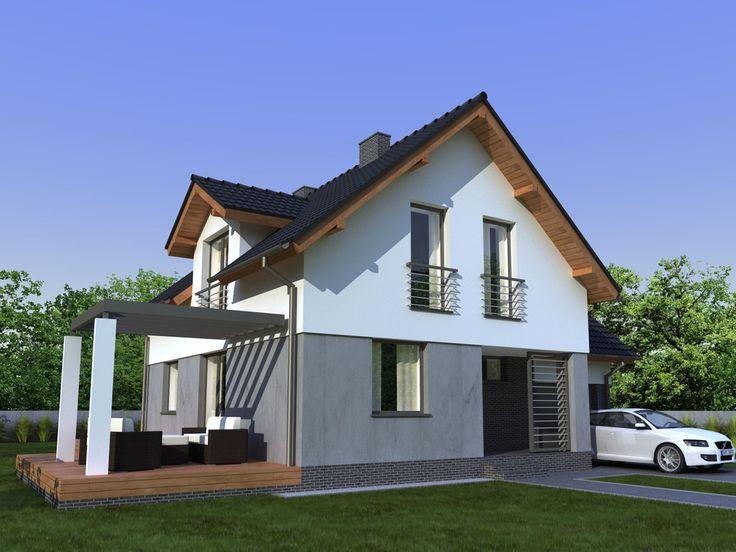 To wolnostojący budynek o nowoczesnej stylistyce i funkcjonalnym wnętrzu, Idealny dla cztero lub pięcio osobowej rodziny.Oszczędne gospodarowanie przestrzenią pozwoliło zaprojektować na małej powierzchni aż sześć pokoi, w tym jeden na parterze pełniący funkcję gabinetu.