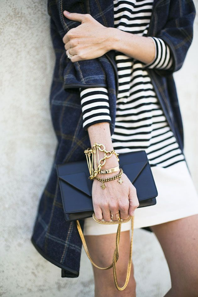 Stripes + gold