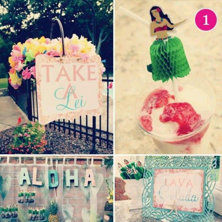 """TAKE A LEI"" basket ..Hawaiian party"