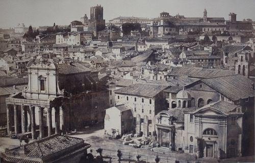 Rome, panorama of quartiere Alessandrino 1856 (ca)