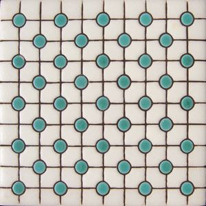 tiles . . .squares and circles . . .Handmade tiles can be colour coordinated and customized re. shape, texture, pattern, etc. by ceramic design studios