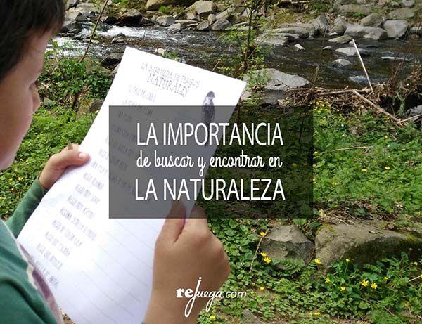 ¿Por qué jugar a buscar y encontrar en la naturaleza es importante?
