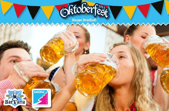 Oktoberfest at Snow Factor Glasgow this 26th/27th/28th September!