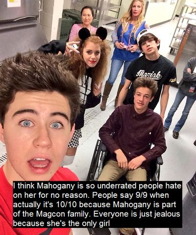 stop the hate! she is amazing!!!<< I love Mahogany! She's awesome. I got my love for ears and stiletto nails from her.