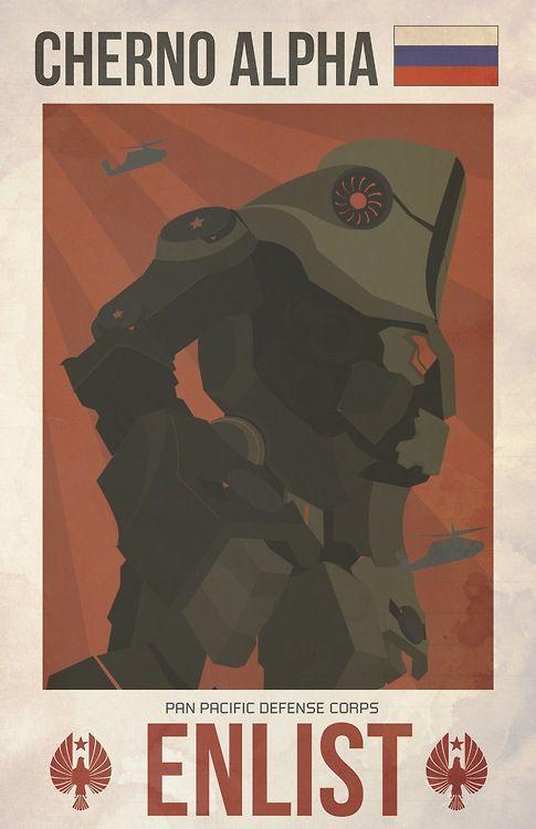 Fan poster: Cherno Alpha Da: http://lrdezign.tumblr.com/  #PacificRim #PacificRimIT