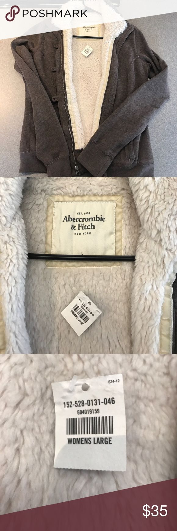 Abercrombie and fitch Women's large cotton jacket. Abercrombie and fitch Women's large brown cotton lined jacket. Brand new with tag. Comes from a smoke free home. Abercrombie & Fitch Jackets & Coats