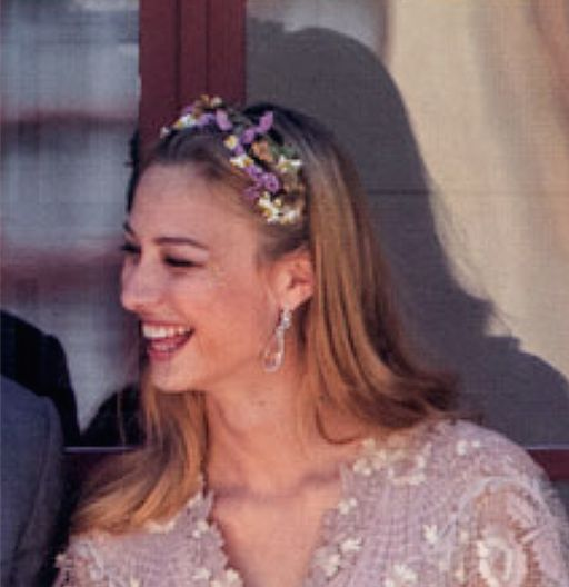 Köchert earrings Beatrice wore for her civil wedding, which were reported to have been a gift from Princess Caroline.